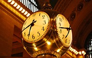 Grand Central Clock Print by Stefa Charczenko
