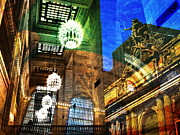 Nyc Digital Art Metal Prints - Grand Central Metal Print by Skip Hunt