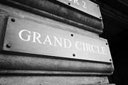 Plaque Posters - Grand Circle Sign On The Usher Hall Edinburgh Scotland Uk United Kingdom Poster by Joe Fox