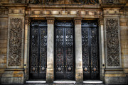 Entrance Door Framed Prints - Grand Door - Leeds Town Hall Framed Print by Yhun Suarez
