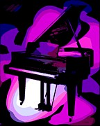 Grand Piano Digital Art Posters - Grand Poster by George Pedro