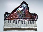 Music Ceramics Originals - Grand glossy piano no2 by Michelle Wildgruber