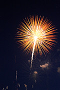 Fire Works Prints - Grand Haven Mi fireworks 2 Print by Robert Pearson