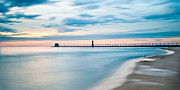 Grand Haven Framed Prints - Grand Haven Pier - Smooth Waters Framed Print by Larry Carr
