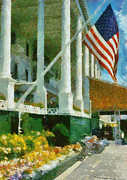 Hotel-room Prints - Grand Hotel Mackinac Island Print by Michelle Calkins