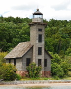 Munising Prints - Grand Island Lighthouse Print by Michael Peychich