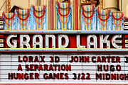 Nostalgic Sign Prints - Grand Lake Theatre . Oakland California . 7D13530 Print by Wingsdomain Art and Photography