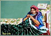 Adel Jarbou Art - Grand mother by Adel Jarbou