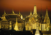 People Of The Night Prints - Grand Palace And Temple Of The Emerald Print by Paul Chesley
