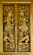 Verticals Prints - Grand Palace Doors - Bangkok Thailand Print by Craig Lovell