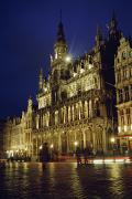 Cobble Stone Framed Prints - Grand Place Framed Print by Axiom Photographic