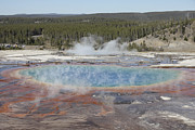 Grand Prismatic Spring, Midway Geyser Print by Richard Roscoe