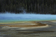 Spring Scenes Framed Prints - Grand Prismatic Spring, Yellowstone Framed Print by Raymond Gehman