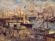 Grand Painting Framed Prints - Grand Quai at Havre Framed Print by Claude Monet