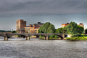 Tone Mapped Prints - Grand Rapids Mich west bank Print by Robert Pearson