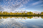 Cloud Reflections Photos - Grand Teton Reflections Jackson Hole by Dustin K Ryan
