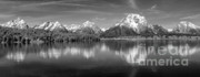 Grand Tetons Prints - Grand Teton Tranquility Print by Sandra Bronstein