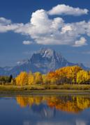 Jackson Hole Photo Framed Prints - Grand Teton XII Framed Print by John Blumenkamp