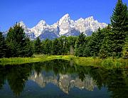 Marty Koch Framed Prints - Grand Tetons 2 Horizontal Framed Print by Marty Koch