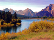 Boating Digital Art - Grand Tetons and Snake River by Terry Anderson