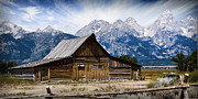Wendy White Acrylic Prints - Grand Tetons Barn Acrylic Print by Wendy White