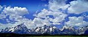 Grand Tetons Prints - Grand Tetons Print by Ellen Lacey