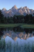 Reflections In River Framed Prints - Grand Tetons From Schwabacher Landing Framed Print by Axiom Photographic