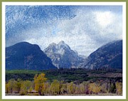 National Parks Mixed Media Framed Prints - Grand Tetons Framed Print by Irina Hays