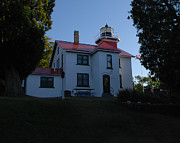 Traverse Bay Photos - Grand Traverse Light House by Grace Grogan