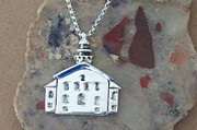 Lakes Jewelry - Grand Traverse Lighthouse Necklace by Ted Lepczynski
