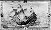 Merchant Ship Prints - Grande Hermine, French Galleon, 16th Print by Photo Researchers