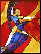 Dancer Glass Art - Grande Saute by Howard Mendelson