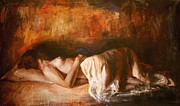 Figure Paintings - Grandezza by Escha Van den bogerd