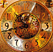 Clock Hands Prints - Grandfather Time HDR Print by Robert Harmon
