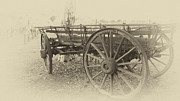 Wagon Wheels Photo Posters - Grandfathers Sunday Drive Poster by Douglas Barnard