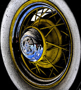 White Cap Digital Art - Grandfathers wheels by David Lee Thompson