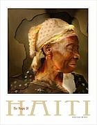Haiti Digital Art Framed Prints - grandma - the people of Haiti series poster Framed Print by Bob Salo