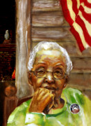 African-american Painting Framed Prints - Grandma for Obama Framed Print by Gary Williams
