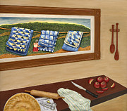 Landscapes Sculpture Framed Prints - Grandmas Apple Pie Framed Print by Anne Klar