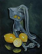 Lemon Painting Posters - Grandmas Lemons Poster by Torrie Smiley