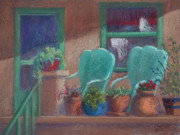 Iron  Pastels - Grandmas Porch by Jo Castillo