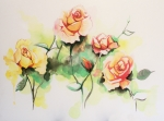 Drips Mixed Media - Grandmas Roses by Lauren Penha