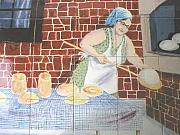 Stone Ceramics - Grandmother Tile Mural by Dy Witt