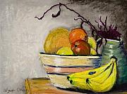 Food And Beverage Pastels Originals - Grandmothers Bowl by Wynn Creasy