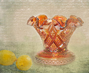 Cut Glass Prints - Grandmothers Vase Print by Betty LaRue