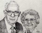Photos Of Cats Drawings - Grandparents by Gretchen Barota