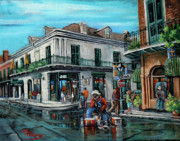 New Orleans Artist Paintings - Grandpas Corner by Dianne Parks