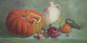 Gourds Paintings - Grandpas Garden by Diana Cox