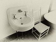 Old Bathroom Print Prints - Grandpas Sink Print by Tony Grider