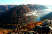 New River Valley Prints - Grandview New River Gorge National River Print by Thomas R Fletcher